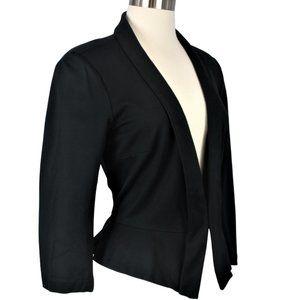 WHBM Size 14 Stretch Peplum Blazer/Jacket Black